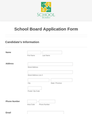 School Board Application Form
