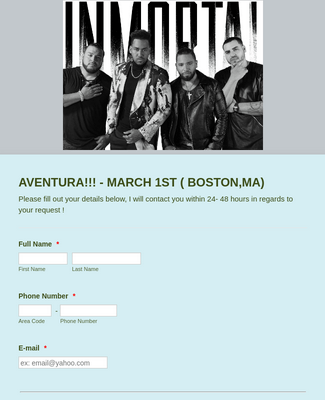 Lets get you AVENTURA TICKETS !