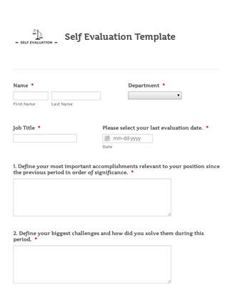This is a graphic of Free Employee Self Evaluation Forms Printable throughout reservationist template
