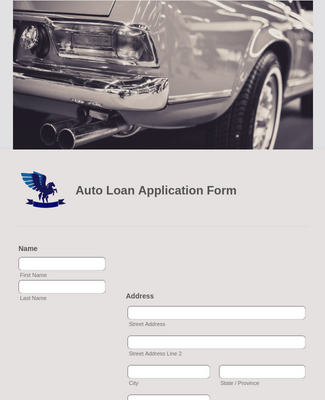 Auto Loan Application Form