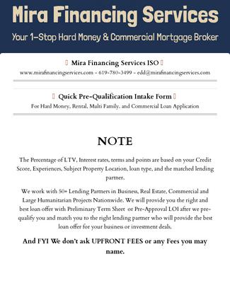 MFS Quick Pre-Qualification Intake Form