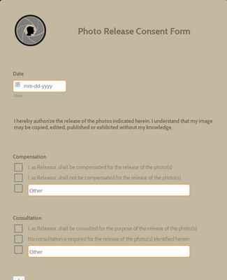 Photo Release Consent Form