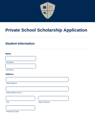 Private School Scholarship Application