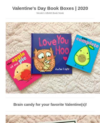 Valentine's Day Book Box