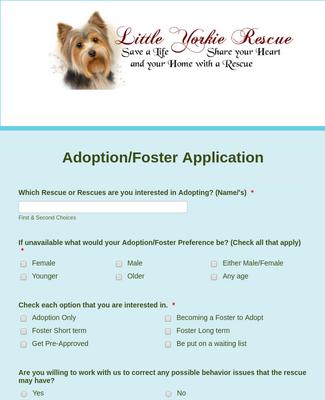 LYR Adoption/Foster Application
