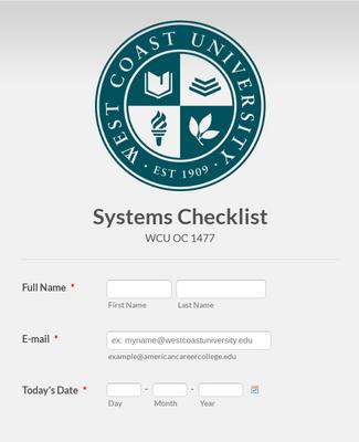 Building Systems Checklist