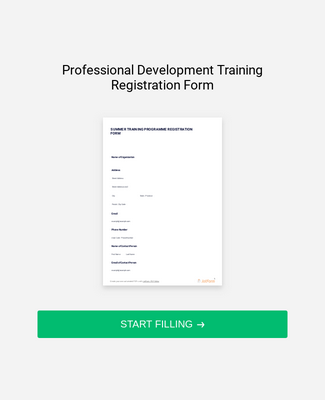 Professional Development Training Registration Form