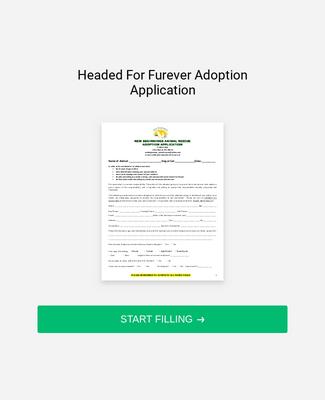 Pet Rescue Application Form