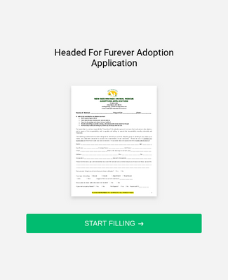 Pet Rescue Application Form