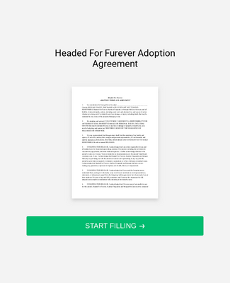 Adoption Agreement Form