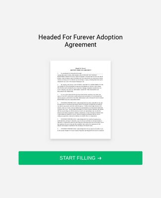Adoption Agreement Form