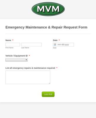 Emergency Maintenance Repair Request Form Template Jotform