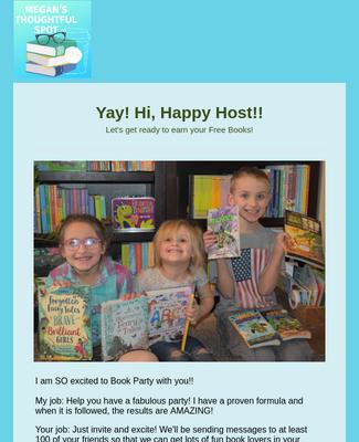 Yay! Hi, Happy Host!!