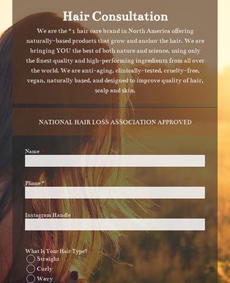 Monat Hair Consultation Form Template Jotform