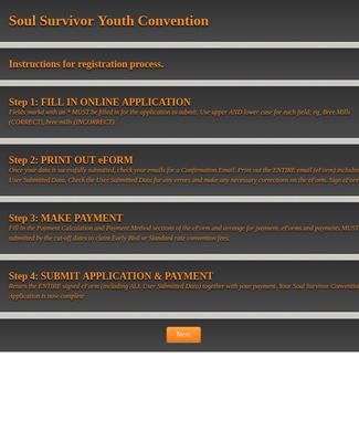 Youth Camp Registration Form