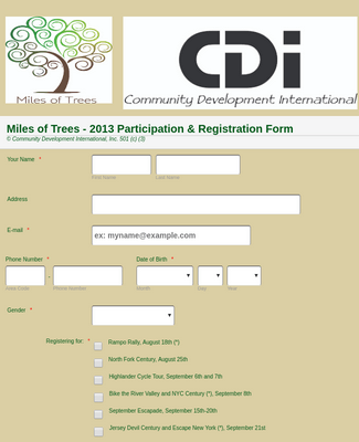 Participation and Registration Form