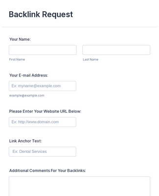 Backlink Request Form