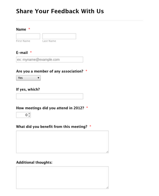 Meeting Feedback Form
