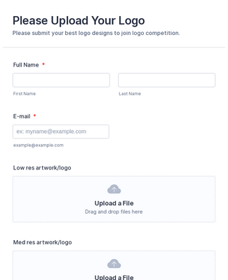 Logo Competition Upload Form