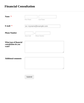 Financial Consultation Form