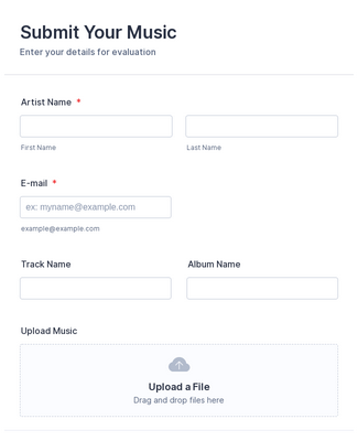 Music Submission Form