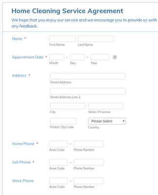 Service Enquiry Form Template Jotform