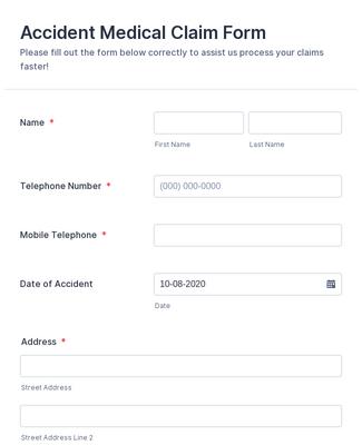 Emergency Claim Form