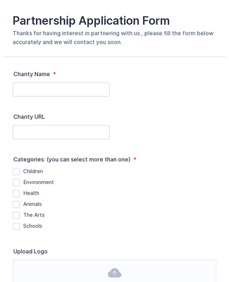 Charity Partnership Application Form