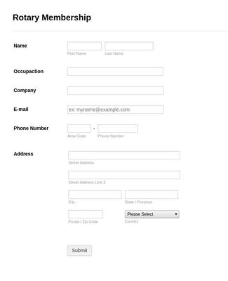 Rotary Membership Form