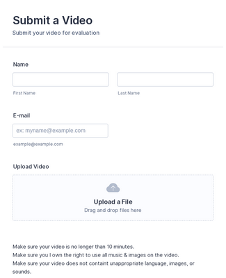 Video Submit Form