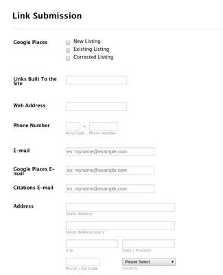 Link Submission Form