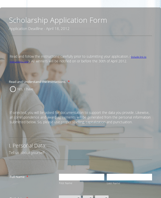 Application Form - Scholarship Grant