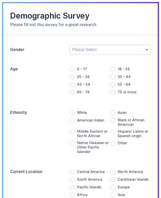 Demographic Survey