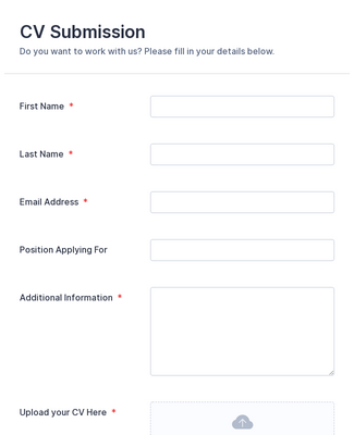 Resume Collection Form Template Jotform