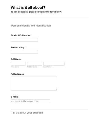 Student Query Form