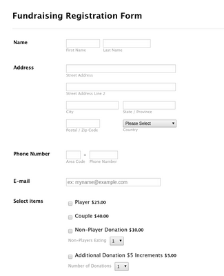 Fundraising Registration Form 3