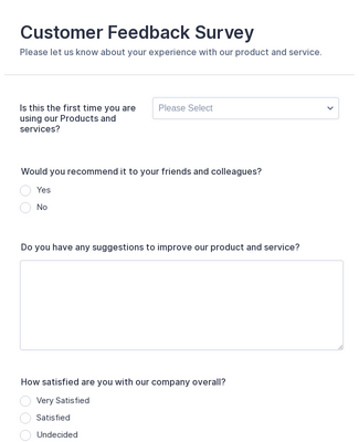 Customer Feedback Survey