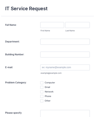 It Service Request Form Template Jotform