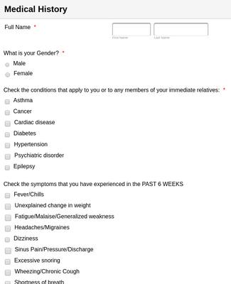 Healthcare Forms Form Templates Jotform