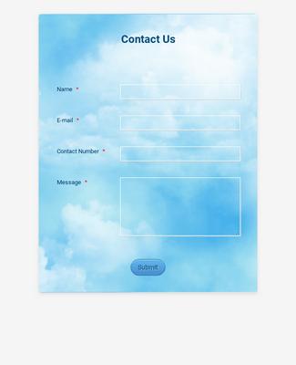 Blue Sky Contact Form