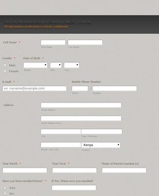 Church Membership Form