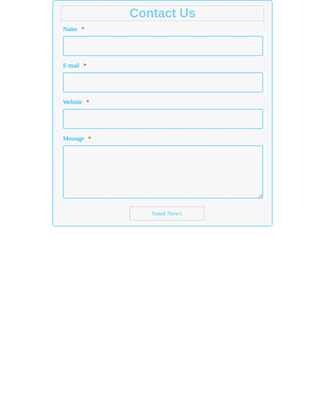 Contact Form - Light Blue
