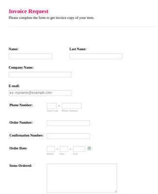 Invoice Request Form 3