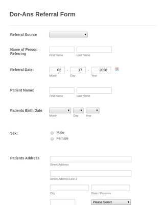 Referral Form 2