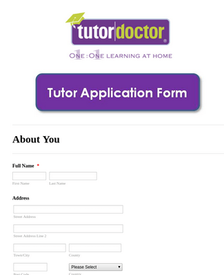 Become a Tutor Application