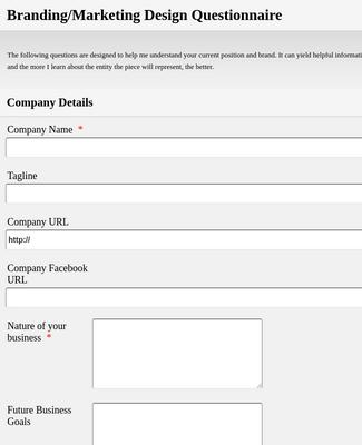 Logo Design Questionnaire Form Template Jotform