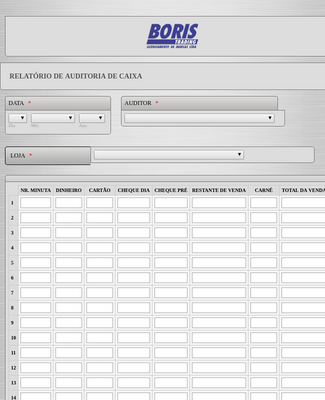 Portuguese Auditing Form
