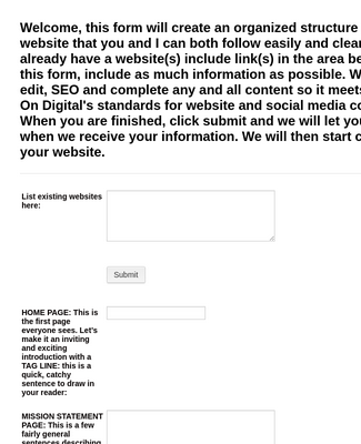 The Online Form: