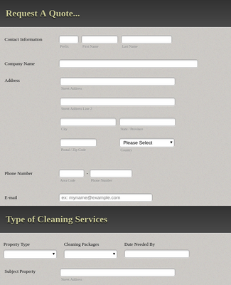 Commercial Cleaning Quote Form Template Jotform
