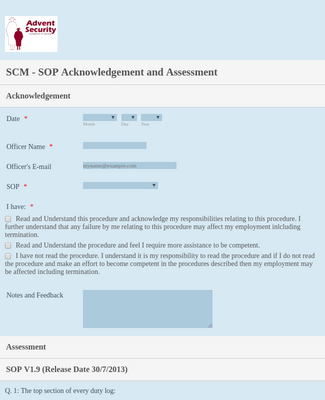 Sop Acknowledgement Form Template Jotform This work would not have been possible without the financial support of the vanderbilt physician scientist development award. sop acknowledgement form template jotform